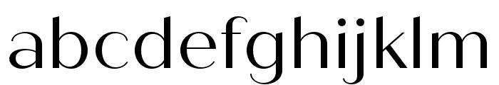 Quiche Sans Regular Font LOWERCASE