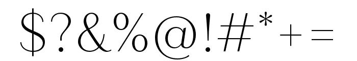 Quiche Sans Thin Font OTHER CHARS