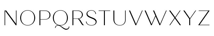 Quiche Sans Thin Font UPPERCASE