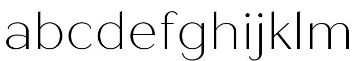 Quiche Sans Thin Font LOWERCASE