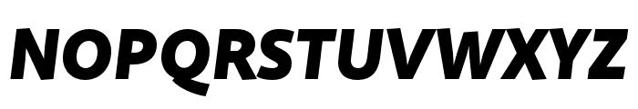 Quire Sans Pro Black Italic Font UPPERCASE
