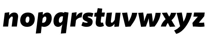 Quire Sans Pro Black Italic Font LOWERCASE