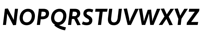 Quire Sans Pro Bold Italic Font UPPERCASE