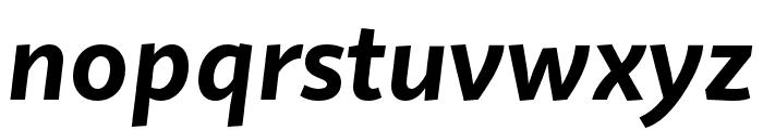 Quire Sans Pro Bold Italic Font LOWERCASE