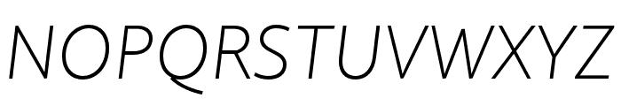 Quire Sans Pro ExtraLight Italic Font UPPERCASE
