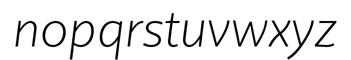 Quire Sans Pro ExtraLight Italic Font LOWERCASE
