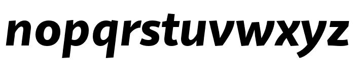 Quire Sans Pro Heavy Italic Font LOWERCASE