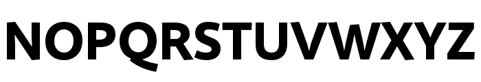 Quire Sans Pro Heavy Font UPPERCASE