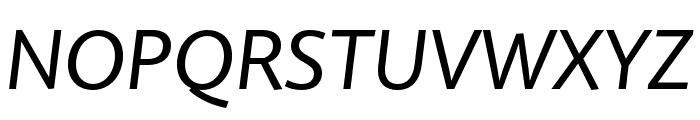 Quire Sans Pro Italic Font UPPERCASE