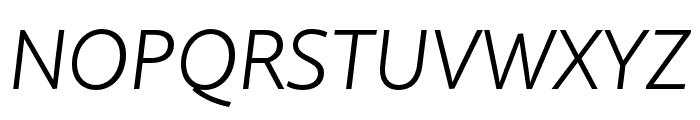 Quire Sans Pro Light Italic Font UPPERCASE
