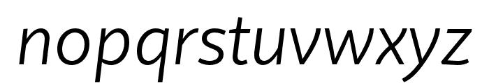 Quire Sans Pro Light Italic Font LOWERCASE