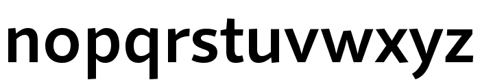 Quire Sans Pro SemiBold Font LOWERCASE