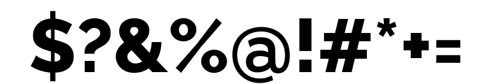 Raleway ExtraBold Font OTHER CHARS