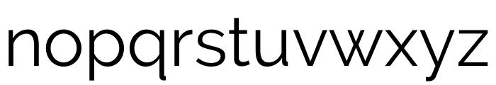 Raleway Regular Font LOWERCASE