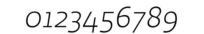 Ratio Light Italic Font OTHER CHARS