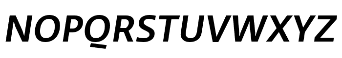 Ratio Medium Italic Font UPPERCASE
