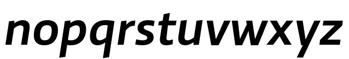Ratio Medium Italic Font LOWERCASE