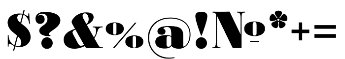 Ratio Modern ExtraBold Font OTHER CHARS