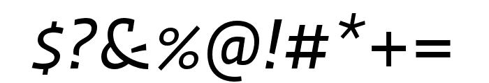 Ratio Regular Italic Font OTHER CHARS