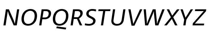 Ratio Regular Italic Font UPPERCASE
