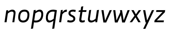Ratio Regular Italic Font LOWERCASE