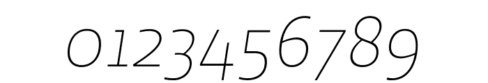 Ratio Thin Italic Font OTHER CHARS