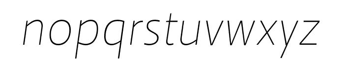 Ratio Thin Italic Font LOWERCASE