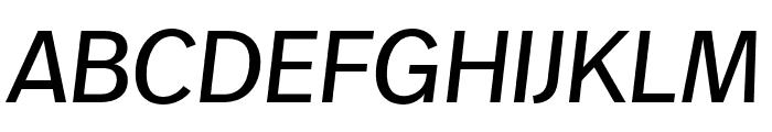 Real Text Pro Extralight Italic Font UPPERCASE