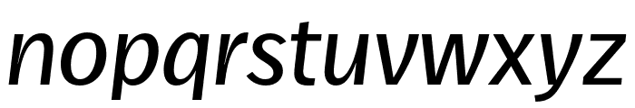 Real Text Pro Extralight Italic Font LOWERCASE