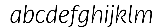Real Text Pro Thin Italic Font LOWERCASE
