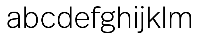 Real Text Pro Thin Font LOWERCASE