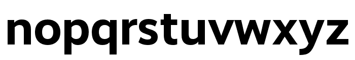 Realist Bold Font LOWERCASE