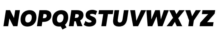 RealistWide Black Italic Font UPPERCASE