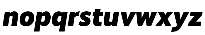 RealistWide Black Italic Font LOWERCASE