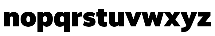 RealistWide Black Font LOWERCASE