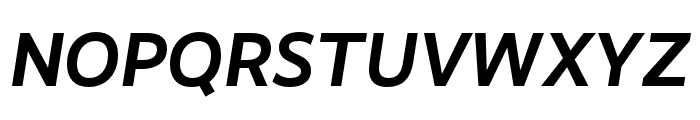 RealistWide Bold Italic Font UPPERCASE
