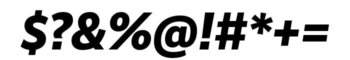 RealistWide ExtraBold Italic Font OTHER CHARS