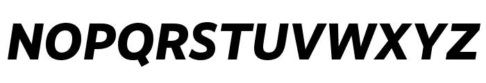 RealistWide ExtraBold Italic Font UPPERCASE