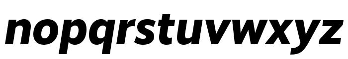 RealistWide ExtraBold Italic Font LOWERCASE