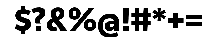 RealistWide ExtraBold Font OTHER CHARS