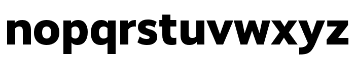 RealistWide ExtraBold Font LOWERCASE