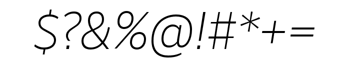 RealistWide Light Italic Font OTHER CHARS