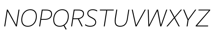 RealistWide Light Italic Font UPPERCASE