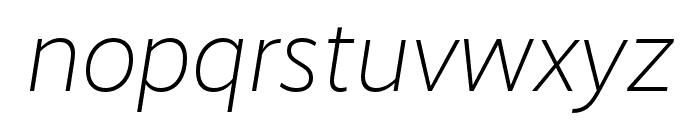 RealistWide Light Italic Font LOWERCASE