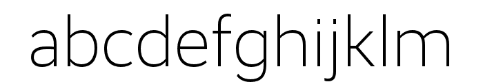 RealistWide Light Font LOWERCASE