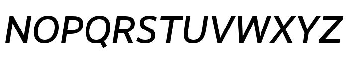 RealistWide Medium Italic Font UPPERCASE