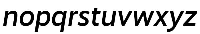 RealistWide Medium Italic Font LOWERCASE