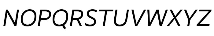RealistWide Regular Italic Font UPPERCASE
