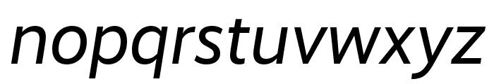 RealistWide Regular Italic Font LOWERCASE