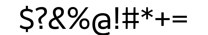 RealistWide Regular Font OTHER CHARS